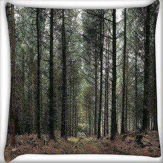 Snoogg Dense Walking Way Digitally Printed Cushion Cover Pillow 16 x 16 Inch