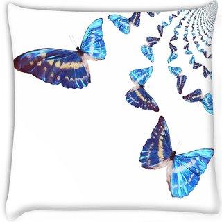 Snoogg  kaleidoscopic butterflies Digitally Printed Cushion Cover Pillow 16 x 16 Inch