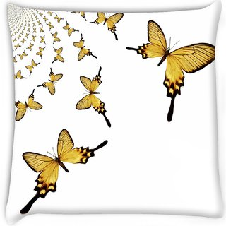 Snoogg  kaleidoscopic butterflies Digitally Printed Cushion Cover Pillow 16 x 16 Inch