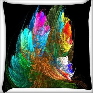 Snoogg Multicolor Pattern Digitally Printed Cushion Cover Pillow 16 x 16 Inch