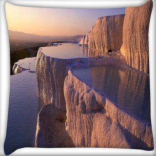 Snoogg Awesome View Digitally Printed Cushion Cover Pillow 16 x 16 Inch