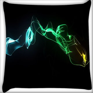 Snoogg Abstract Smoke Digitally Printed Cushion Cover Pillow 16 x 16 Inch
