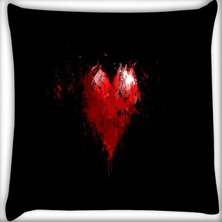 Snoogg Broken Heart Digitally Printed Cushion Cover Pillow 16 x 16 Inch