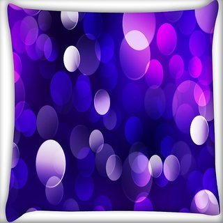 Snoogg Purple Spots Abstract Digitally Printed Cushion Cover Pillow 16 x 16 Inch