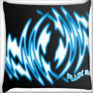 Snoogg Flux Digitally Printed Cushion Cover Pillow 16 x 16 Inch
