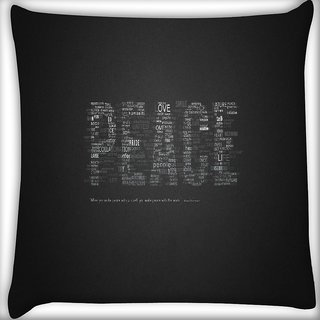 Snoogg Peace Digitally Printed Cushion Cover Pillow 16 x 16 Inch