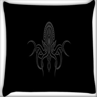 Snoogg Cthulhu Wallpaper Digitally Printed Cushion Cover Pillow 16 x 16 Inch