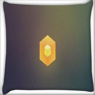 Snoogg Cube Minimalistic Digitally Printed Cushion Cover Pillow 16 x 16 Inch