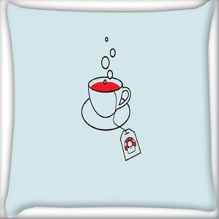 Snoogg Minimalistic Mario Digitally Printed Cushion Cover Pillow 16 x 16 Inch