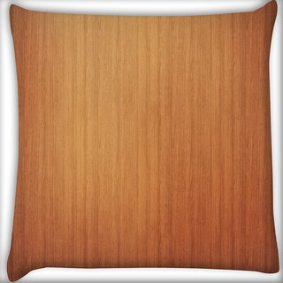 Snoogg Plain Wood Laminate Digitally Printed Cushion Cover Pillow 16 x 16 Inch