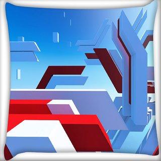 Snoogg Mirrors Edge Digitally Printed Cushion Cover Pillow 16 x 16 Inch