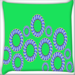 Snoogg Moving Opticals Digitally Printed Cushion Cover Pillow 16 x 16 Inch