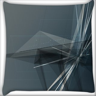Snoogg Abstract Clock Digitally Printed Cushion Cover Pillow 16 x 16 Inch