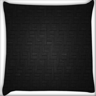 Snoogg Dark Black Floor Design Digitally Printed Cushion Cover Pillow 16 x 16 Inch