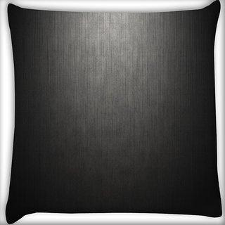 Snoogg Matt Black Floor Design Digitally Printed Cushion Cover Pillow 16 x 16 Inch