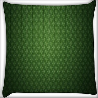 Snoogg Abstract Green Lined Design Digitally Printed Cushion Cover Pillow 16 x 16 Inch
