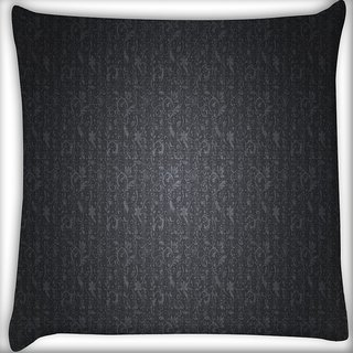 Snoogg Grey Abstract Design Digitally Printed Cushion Cover Pillow 16 x 16 Inch