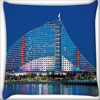 Snoogg Antique Structure Of Building Digitally Printed Cushion Cover Pillow 16 x 16 Inch