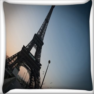 Snoogg Street Along The Towar Digitally Printed Cushion Cover Pillow 16 x 16 Inch