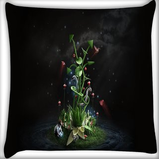 Snoogg Abstract Kid Digitally Printed Cushion Cover Pillow 16 x 16 Inch