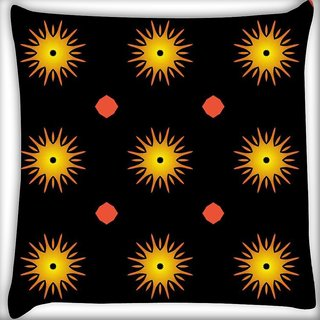 Snoogg Sparkling Small Sun Digitally Printed Cushion Cover Pillow 16 x 16 Inch