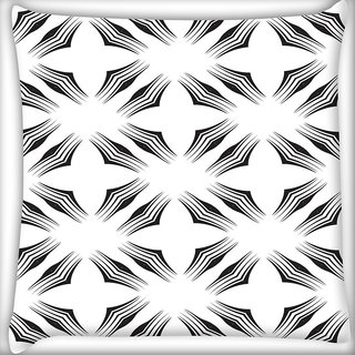 Snoogg White Big Star Digitally Printed Cushion Cover Pillow 16 x 16 Inch