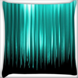 Snoogg Cyan Rays Digitally Printed Cushion Cover Pillow 16 x 16 Inch