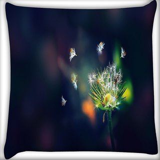 Snoogg Dandelion Photography Digitally Printed Cushion Cover Pillow 16 x 16 Inch