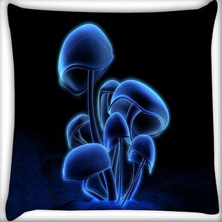 Snoogg Digital Blasphemy Mushroom Digitally Printed Cushion Cover Pillow 16 x 16 Inch