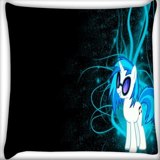 Snoogg Dj Vinyl Scratch Digitally Printed Cushion Cover Pillow 16 x 16 Inch