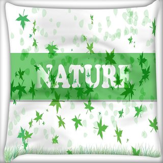 Snoogg Nature Digitally Printed Cushion Cover Pillow 16 x 16 Inch