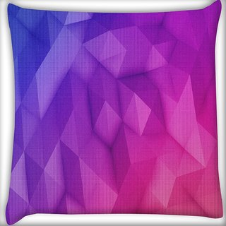 Snoogg Abstract Purple Pattern Digitally Printed Cushion Cover Pillow 16 x 16 Inch