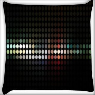 Snoogg Abstract Black Design Digitally Printed Cushion Cover Pillow 16 x 16 Inch