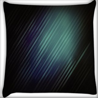 Snoogg Black Background Rays Digitally Printed Cushion Cover Pillow 16 x 16 Inch