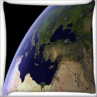 Snoogg Black Graph Digitally Printed Cushion Cover Pillow 16 x 16 Inch