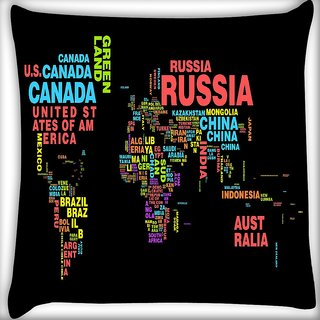 Snoogg Waterdrops Digitally Printed Cushion Cover Pillow 16 x 16 Inch