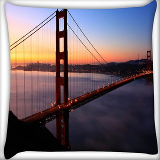 Snoogg Sealing At Night Digitally Printed Cushion Cover Pillow 16 x 16 Inch