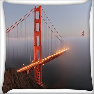Snoogg Smog In Sealing Digitally Printed Cushion Cover Pillow 16 x 16 Inch