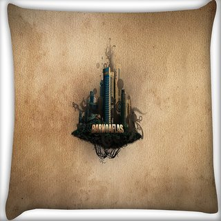 Snoogg Barnoaflas Digitally Printed Cushion Cover Pillow 16 x 16 Inch