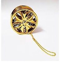ManeKo Golden Alloy Wheel Car Hanging Air Freshener Gel Perfume For Car, Home, Office