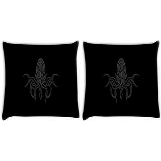 Snoogg Pack Of 2 Cthulhu Wallpaper Digitally Printed Cushion Cover Pillow 8 X 8 Inch