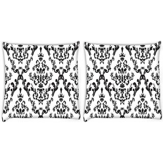Snoogg Pack Of 2 Amazed Pattern Digitally Printed Cushion Cover Pillow 8 X 8 Inch