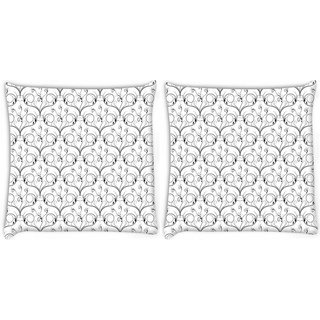 Snoogg Pack Of 2 Lite Pattern Digitally Printed Cushion Cover Pillow 8 X 8 Inch