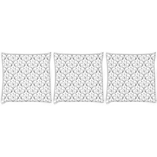 Snoogg Pack Of 3 Lite Pattern Digitally Printed Cushion Cover Pillow 8 X 8 Inch
