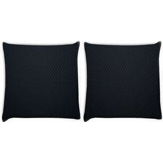 Snoogg Pack Of 2 Black Wall Digitally Printed Cushion Cover Pillow 8 X 8 Inch