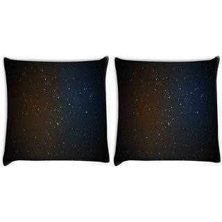 Snoogg Pack Of 2 Amazed Stars Digitally Printed Cushion Cover Pillow 8 X 8 Inch
