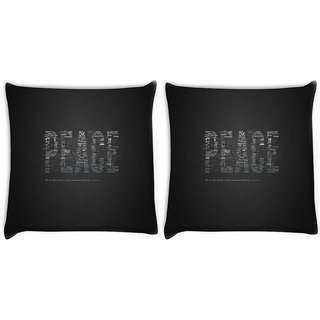 Snoogg Pack Of 2 Peace Digitally Printed Cushion Cover Pillow 8 X 8 Inch