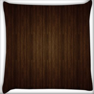 Snoogg Brown Wall Digitally Printed Cushion Cover Pillow 14 x 14 Inch