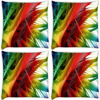 Snoogg Pack Of 4 Colorful Thrones Digitally Printed Cushion Cover Pillow 8 X 8 Inch