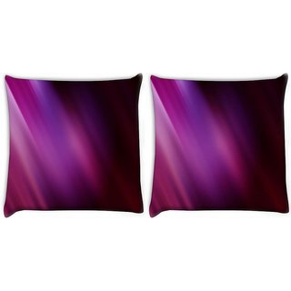 Snoogg Pack Of 2 Abstract Artistic Digitally Printed Cushion Cover Pillow 8 X 8 Inch